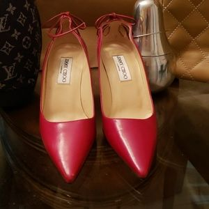 Jimmy choo red heels new condition one scratch